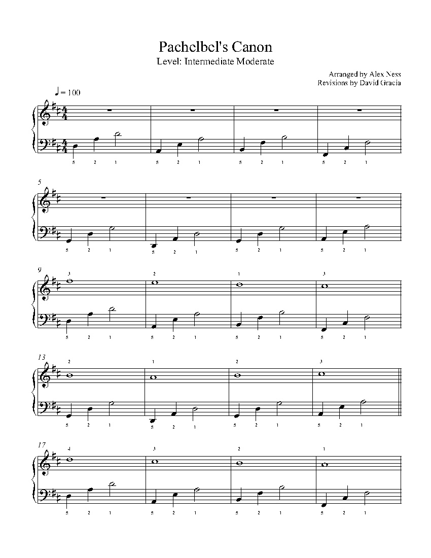 Canon In Dpachelbel Piano Sheet Music | Intermediate Level - Canon In D Piano Sheet Music Free Printable