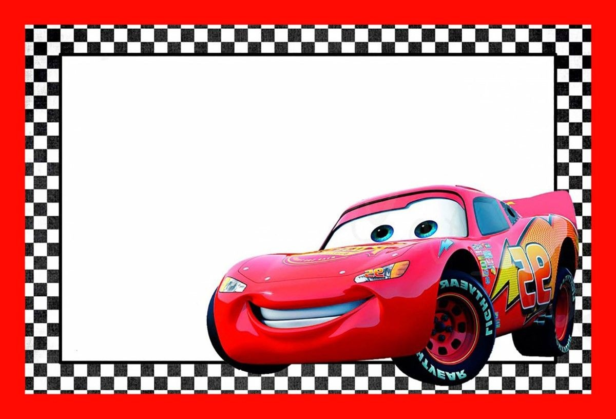 Cars Lightning Mcqueen Printable Template   Cars Birthday In 2019 - Free Printable Car Template
