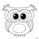 Cartoon Owl Coloring Page | Free Printable Coloring Pages   Free Printable Owl Coloring Sheets
