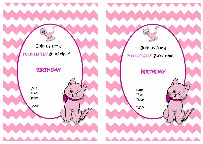 Cat Lovers Birthday Invitations – Birthday Printable | Eva Birthday - Free Printable Kitten Birthday Invitations