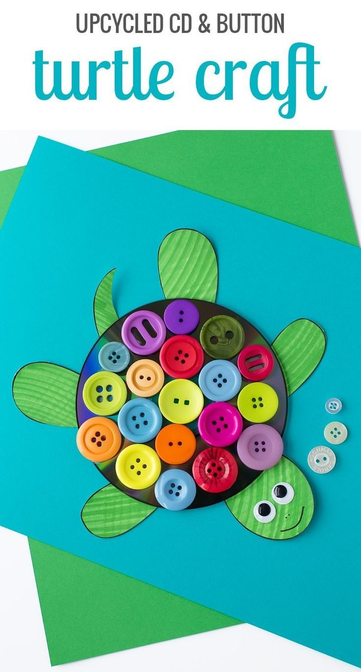 Cd And Button Turtle Craft | Preschool Pond Theme | Turtle Crafts - Free Printable Button Templates