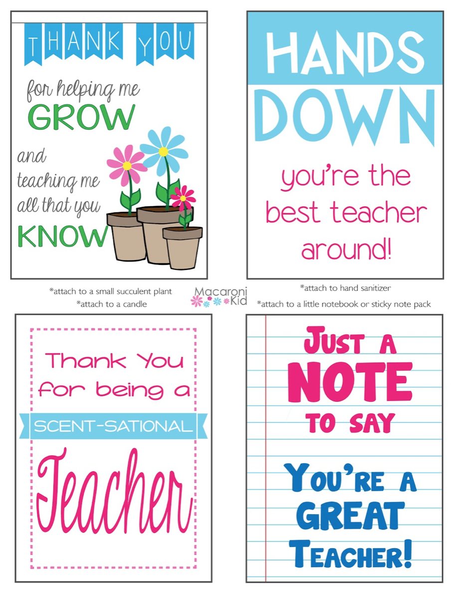 Celebrate Teacher Appreciation Week With These Free Printables! - Hands Down You Re The Best Teacher Around Free Printable