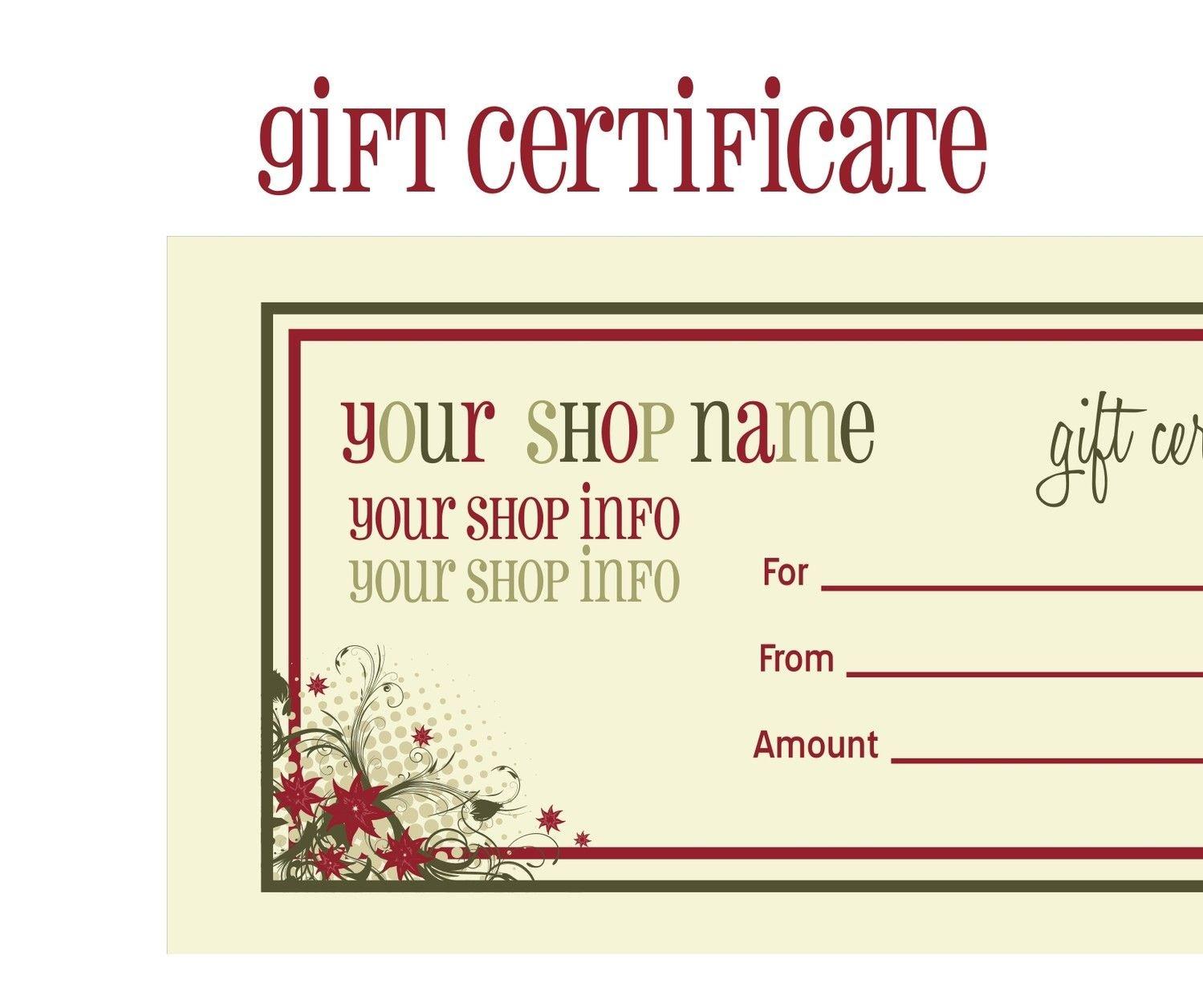 Certificates Printable Calendars Free Printable Avon Gift - Free Printable Massage Gift Certificate Templates