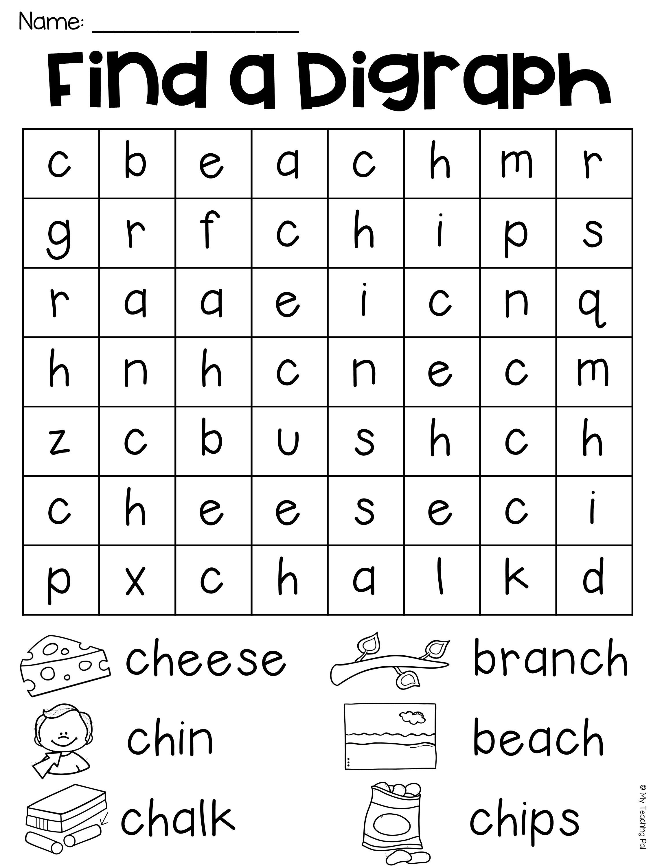 Ch Worksheet Packet - Digraphs Worksheets | My Tpt Store | Digraphs - Free Printable Ch Digraph Worksheets