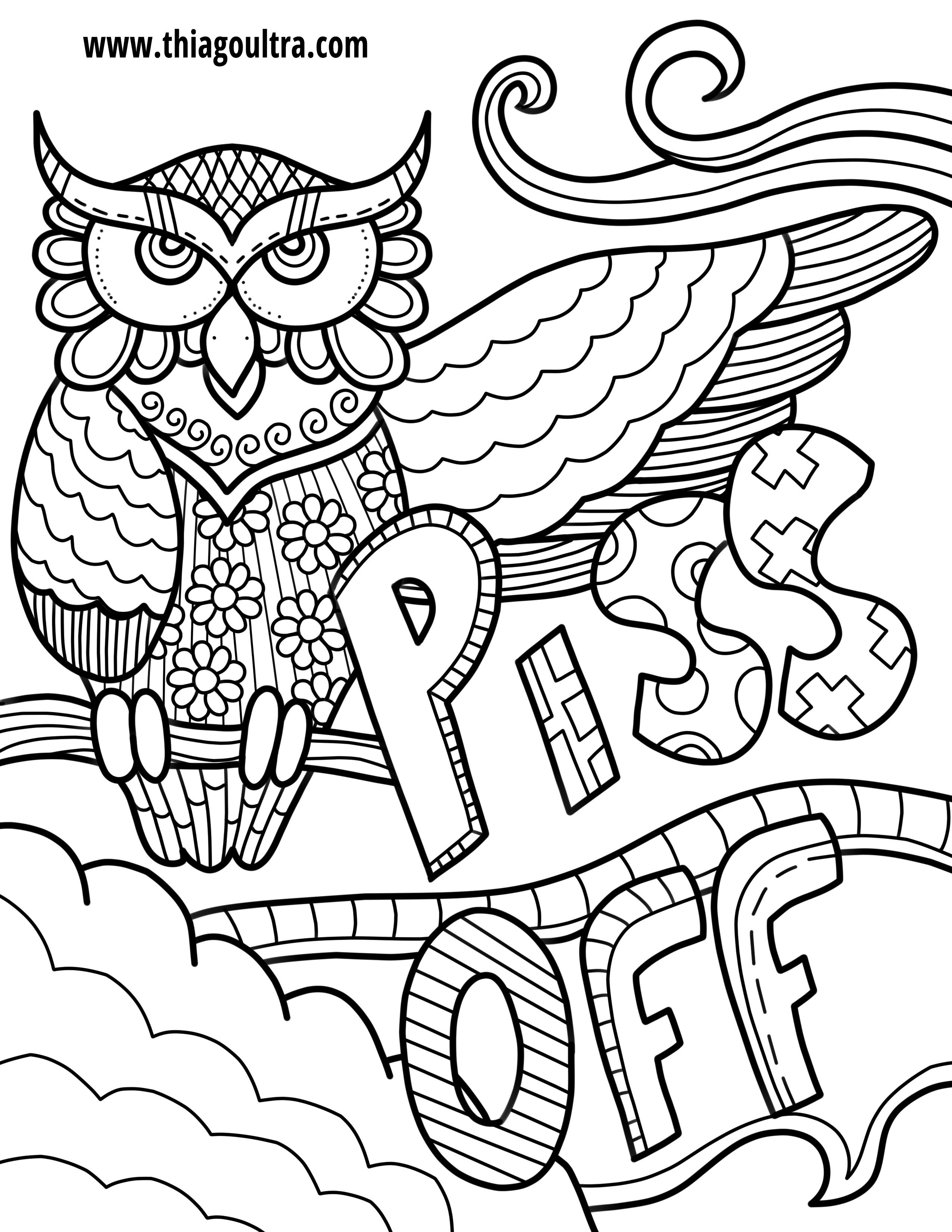 Challenge Free Printable Coloring Pages For Adults Only Swear Words - Free Printable Coloring Pages For Adults Only