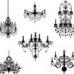 Chandelier Stencil Templates | Free Chandeliers In High Quality 12   Free Printable Chandelier Template