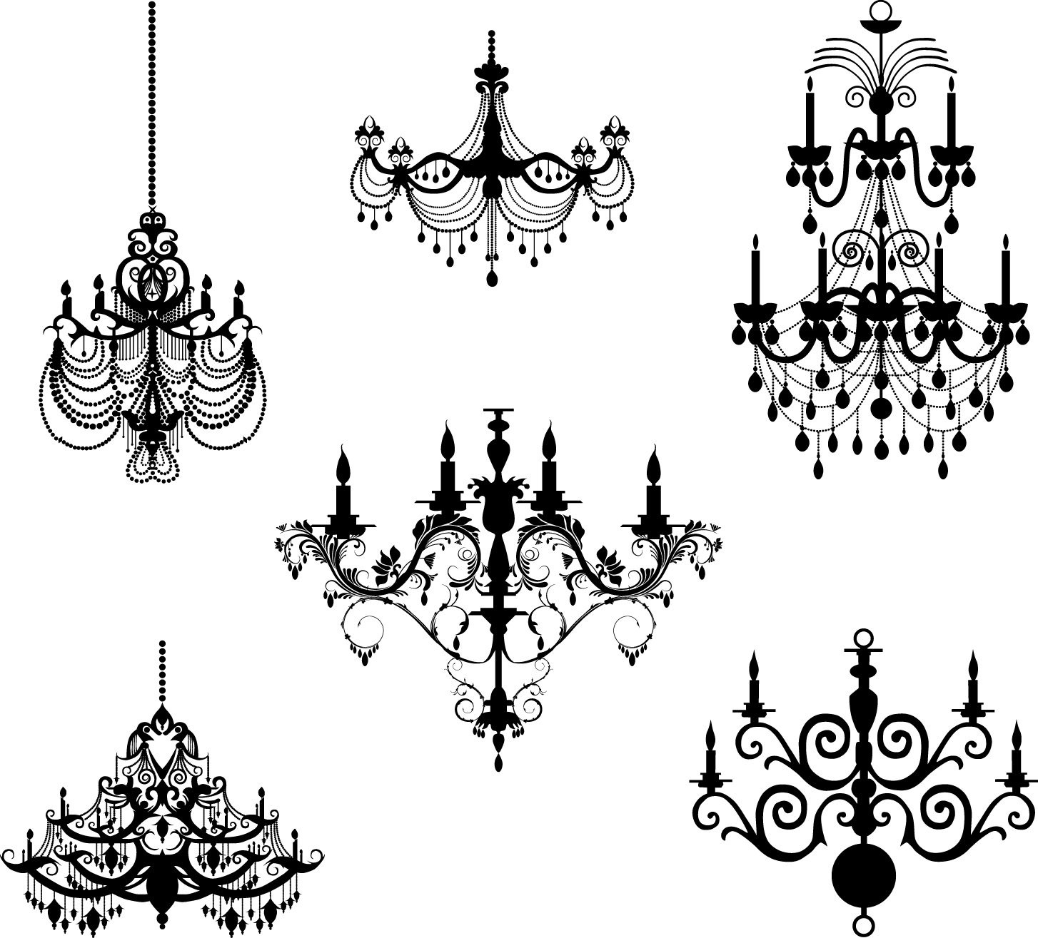 Chandelier Stencil Templates | Free Chandeliers In High Quality 12 - Free Printable Chandelier Template