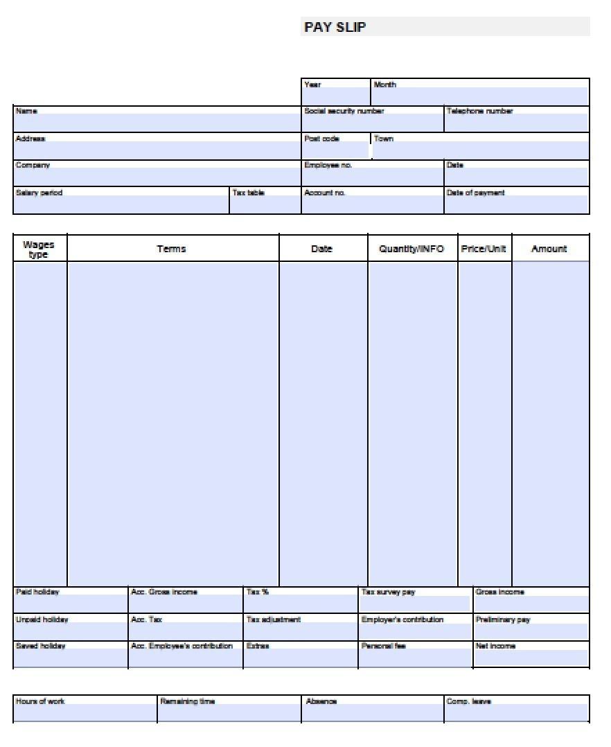 Check Stub Template Free | Pay Stub Template Free Blank-Usa-Pay-Stub - Free Printable Paycheck Stubs