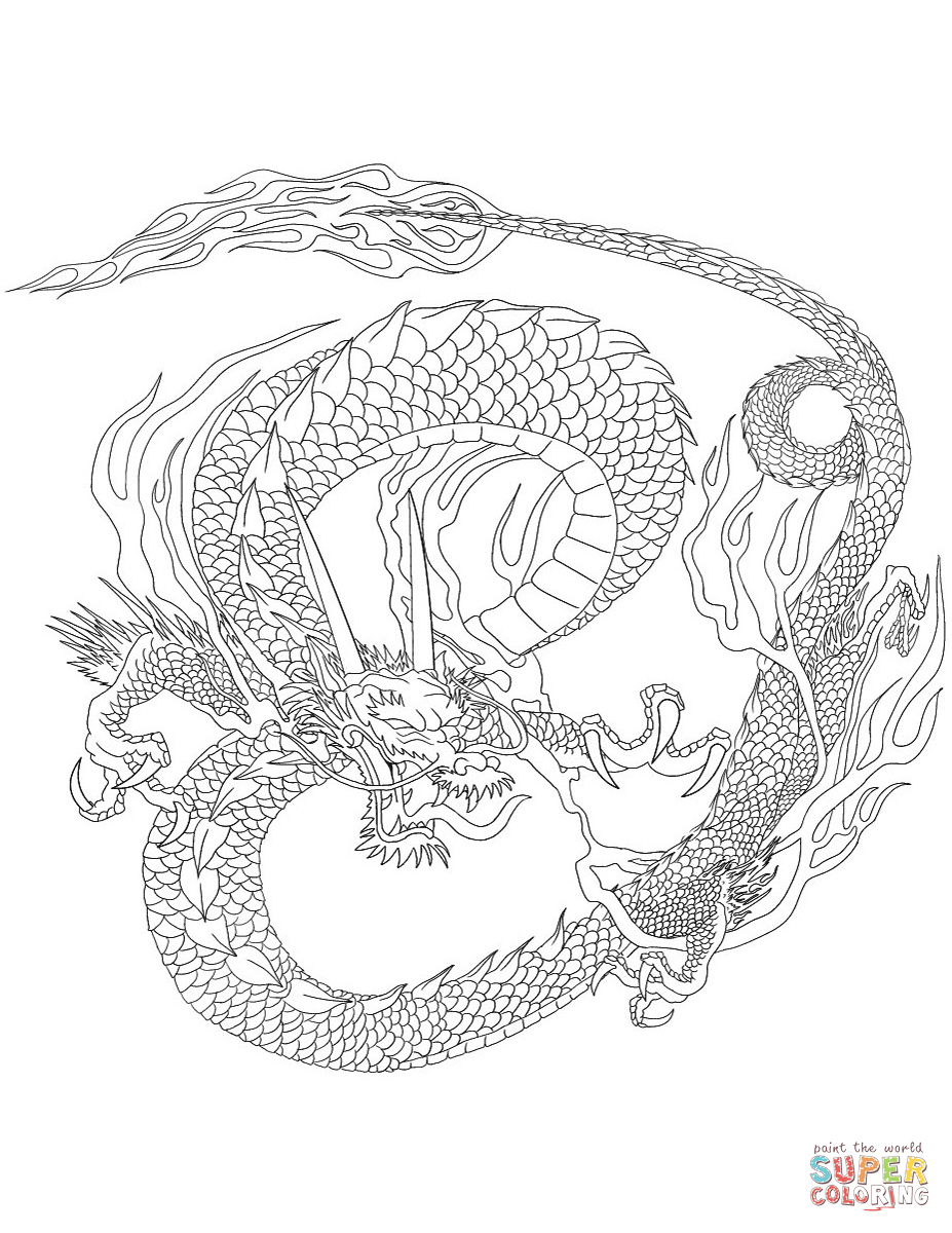 Chinese Dragon Coloring Page | Free Printable Coloring Pages - Free Printable Chinese Dragon Coloring Pages