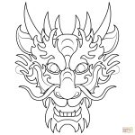 Chinese Dragon Mask Coloring Page | Free Printable Coloring Pages   Dragon Mask Printable Free