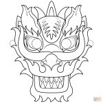 Chinese New Year Dragon Mask Coloring Page | Free Printable Coloring   Dragon Mask Printable Free