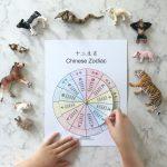 Chinese Zodiac Wheel   Free Interactive Printable In Chinese And   Free Printable Chinese Zodiac Wheel