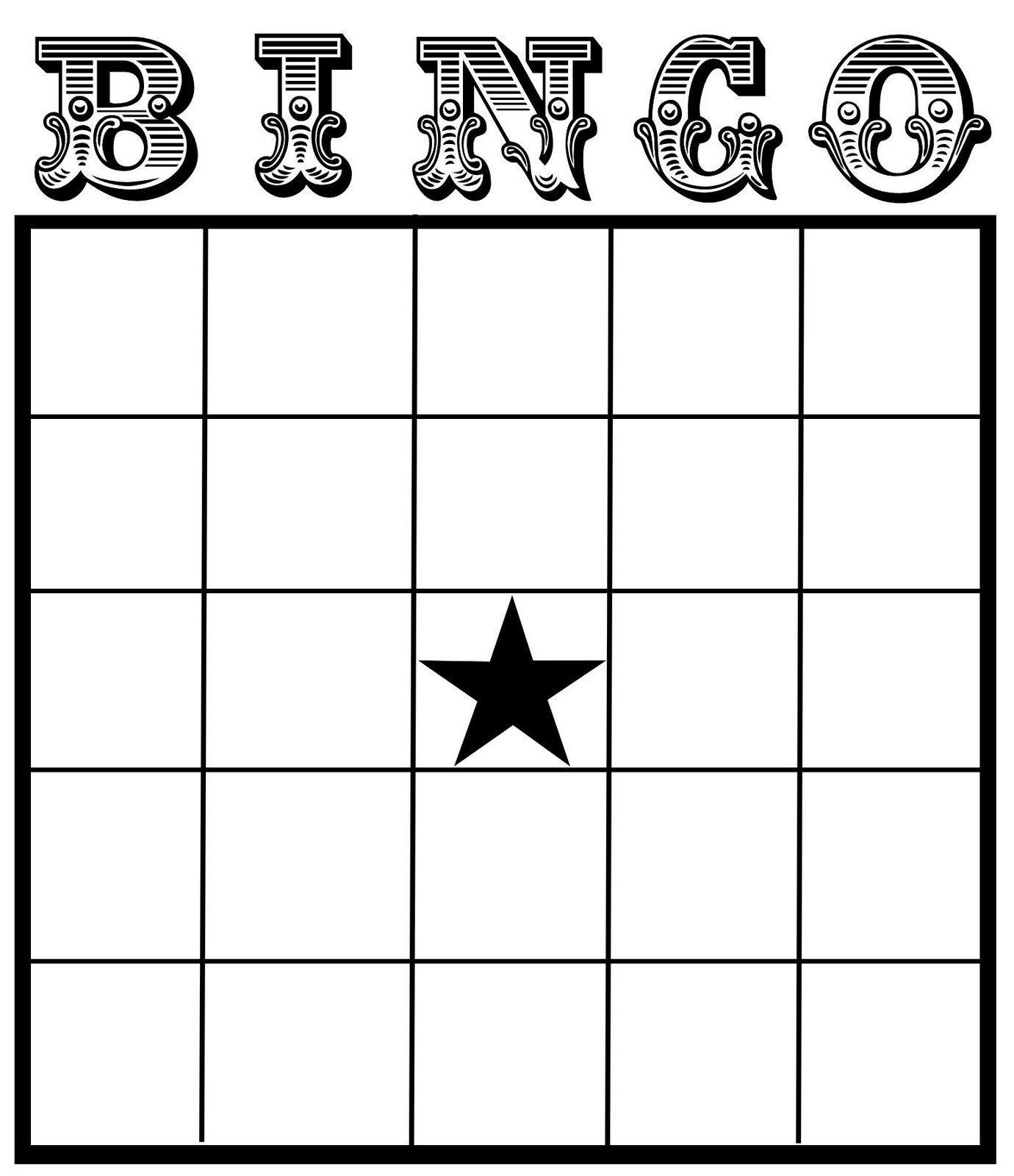 Christine Zani: Bingo Card Printables To Share   Reading & Writing - Printable Bingo Template Free