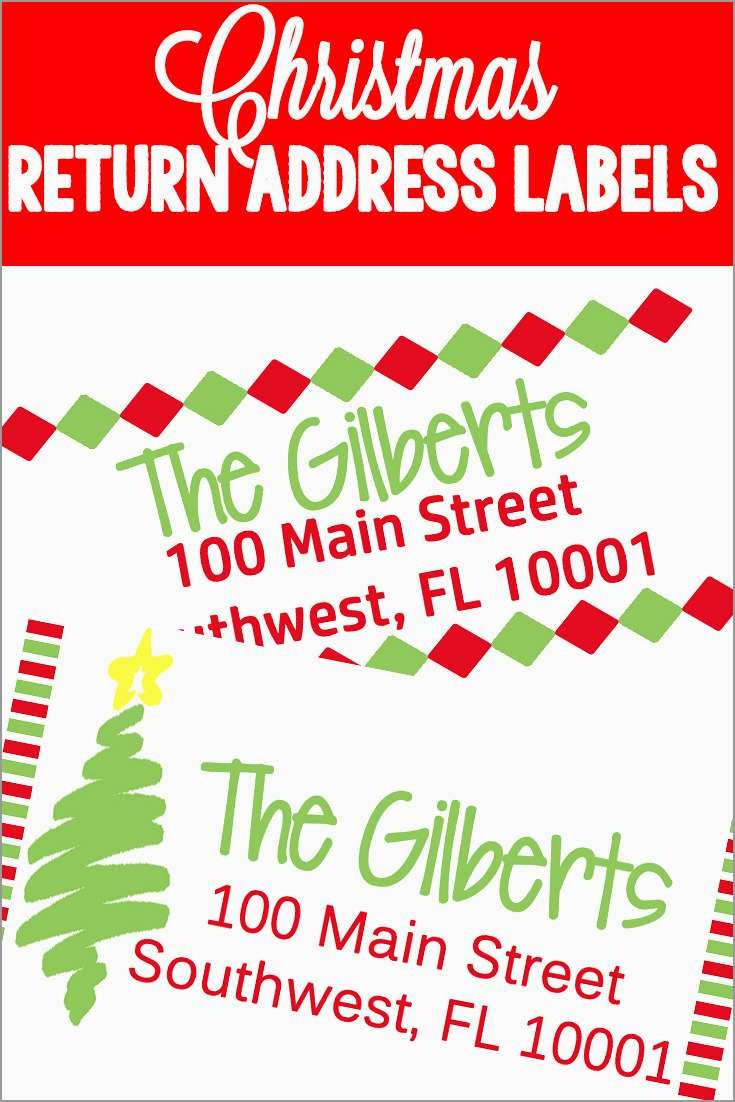 Christmas Address Labels Free Templates Amazing Printable Christmas - Free Printable Christmas Return Address Label Template