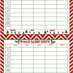 Christmas Bunco Score Sheets Free | Bunco | Bunco Score Sheets   Free Printable Bunco Game Sheets