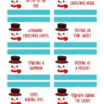 Christmas Charades Free Printable   Start A New Holiday Tradition   Ftm   Free Printable Christmas Charades Cards