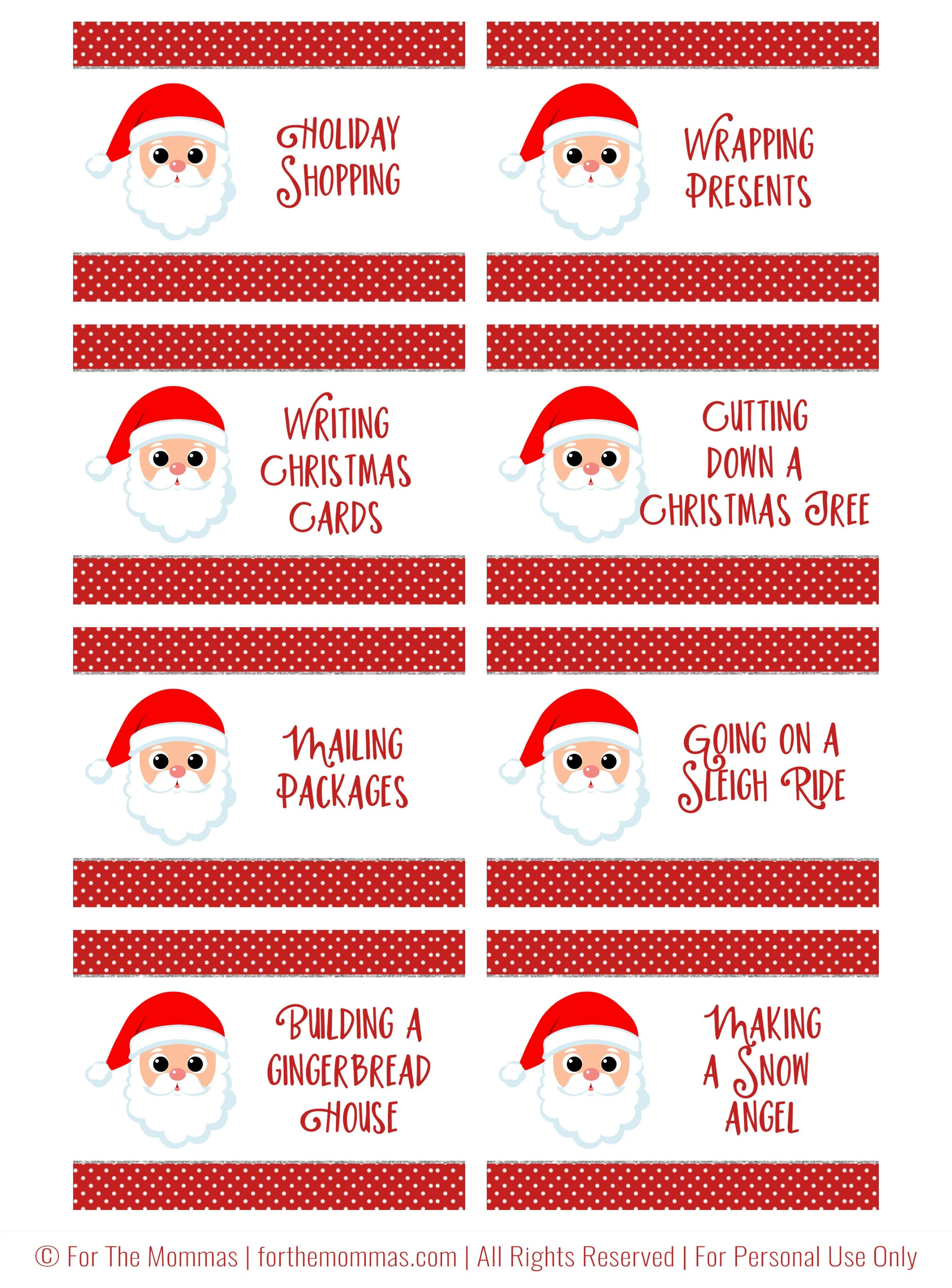 Christmas Charades Free Printable - Start A New Holiday Tradition - Ftm - Free Printable Christmas Charades Cards