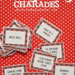 Christmas Charades Game And Free Printable Roundup!   A Girl And A   Christmas Song Lyrics Game Free Printable