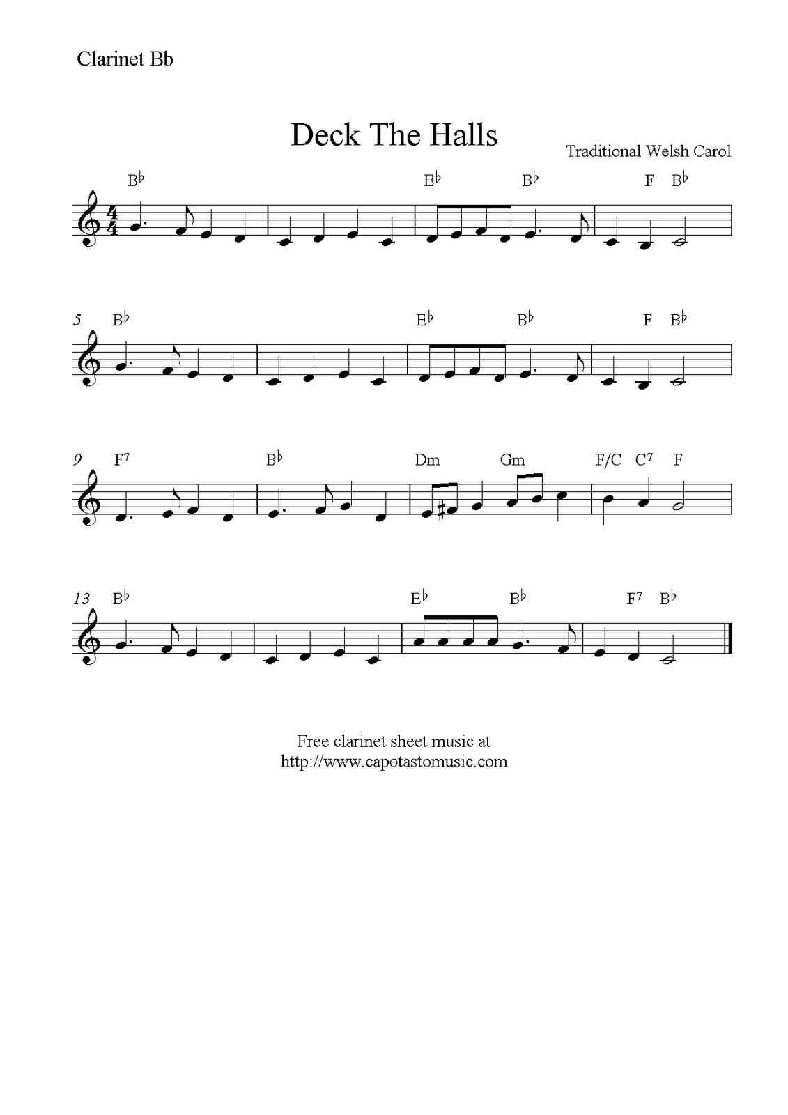 Christmas Clarinet Sheet Music Free - Google Search   Music - Free Printable Clarinet Music