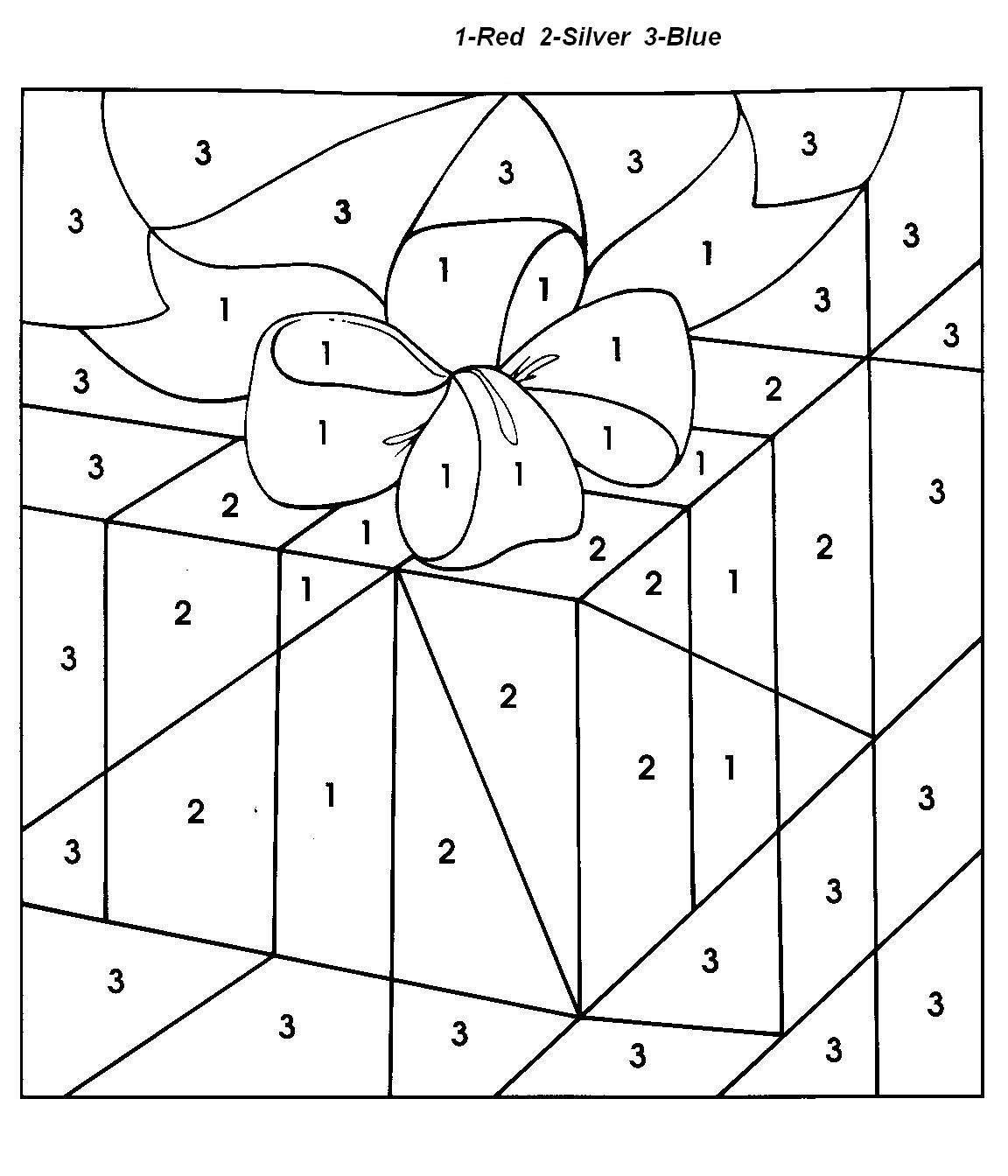 Christmas Coloring Pages With Numbers | Chrismast And New Year - Free Printable Christmas Color By Number Coloring Pages