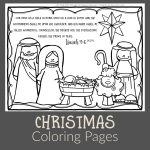 Christmas Coloring Pictures   Path Through The Narrow Gate   Free Printable Bible Christmas Coloring Pages