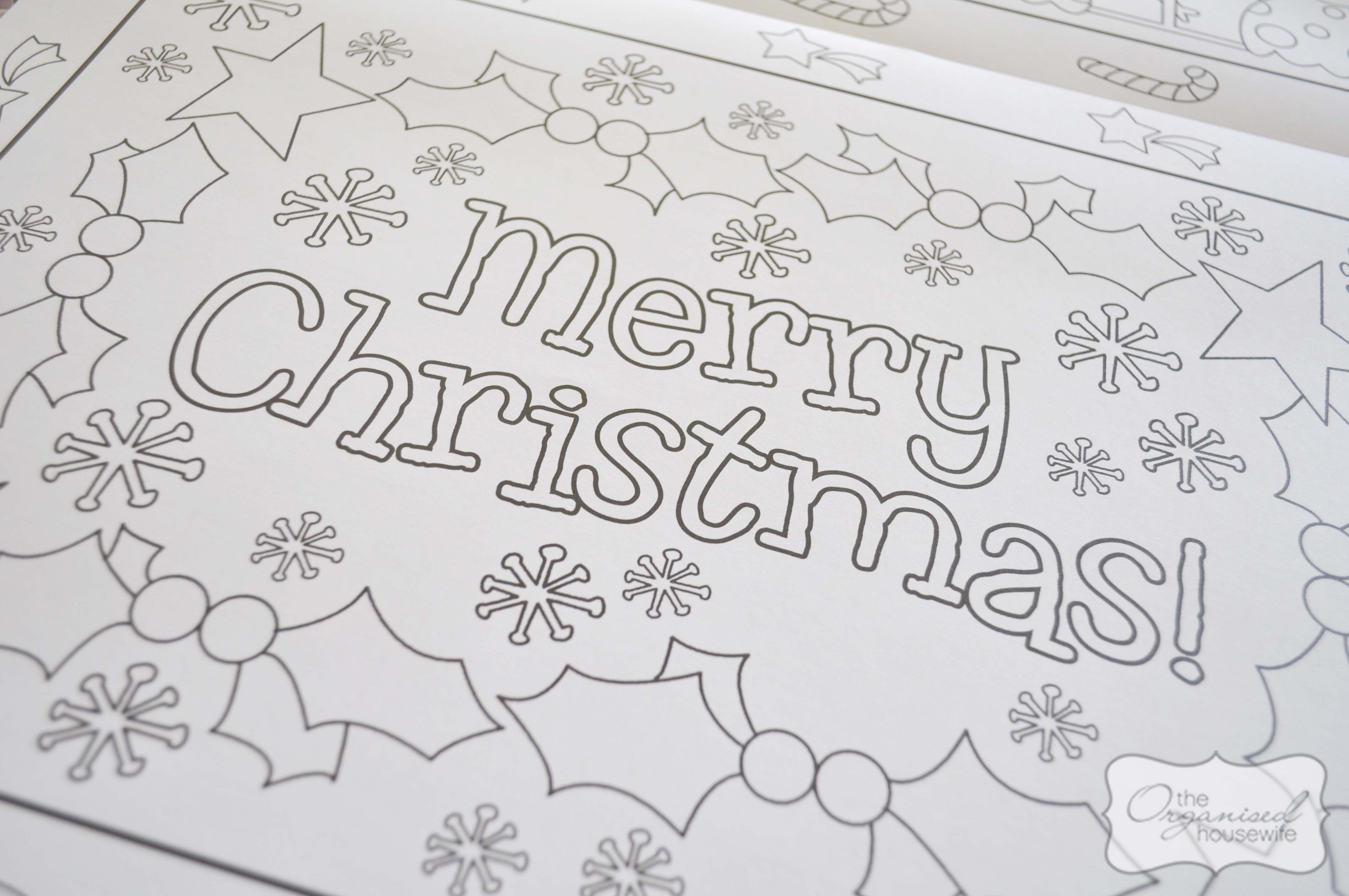 Christmas Craft} Christmas Placemat - The Organised Housewife - Free Printable Christmas Placemats For Adults
