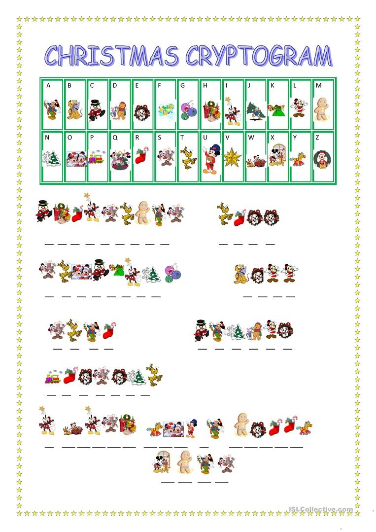 Christmas Cryptogram Worksheet - Free Esl Printable Worksheets Made - Free Printable Cryptograms With Answers