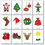 Christmas Flashcards   Free Printable Flashcards To Download   Speak   Free Printable Xmas Cards Download