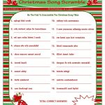 photo relating to Christmas Song Scramble Free Printable referred to as Printable Xmas Term Scramble Xmas Programs