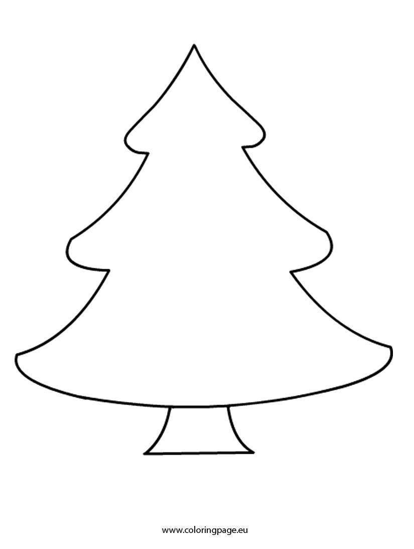 Christmas Tree. Christmas Tree Printable: Coloring Pages Plain - Free Printable Christmas Ornament Patterns