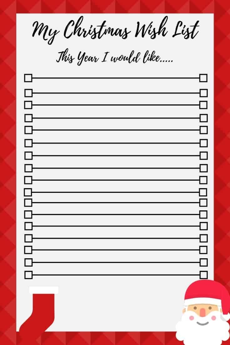 Christmas Wish List Free Printable - Free Printable Christmas List