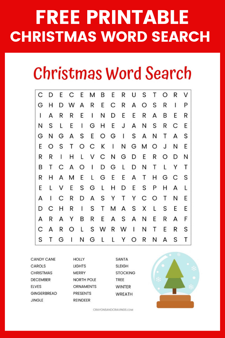 Christmas Word Search Free Printable For Kids Or Adults - Free Printable Christmas Puzzles Word Searches