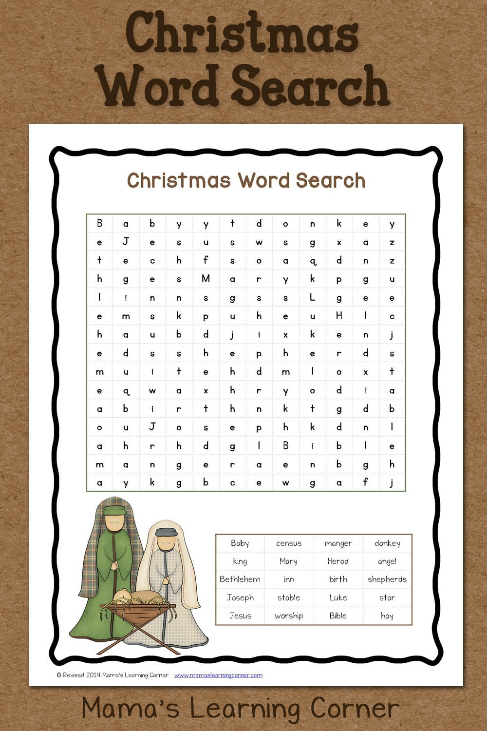 Christmas Word Search: Free Printable - Mamas Learning Corner - Free Printable Christmas Puzzles Word Searches