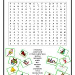 Christmas Wordsearch Worksheet   Free Esl Printable Worksheets Made   Free Printable Christmas Puzzles Word Searches