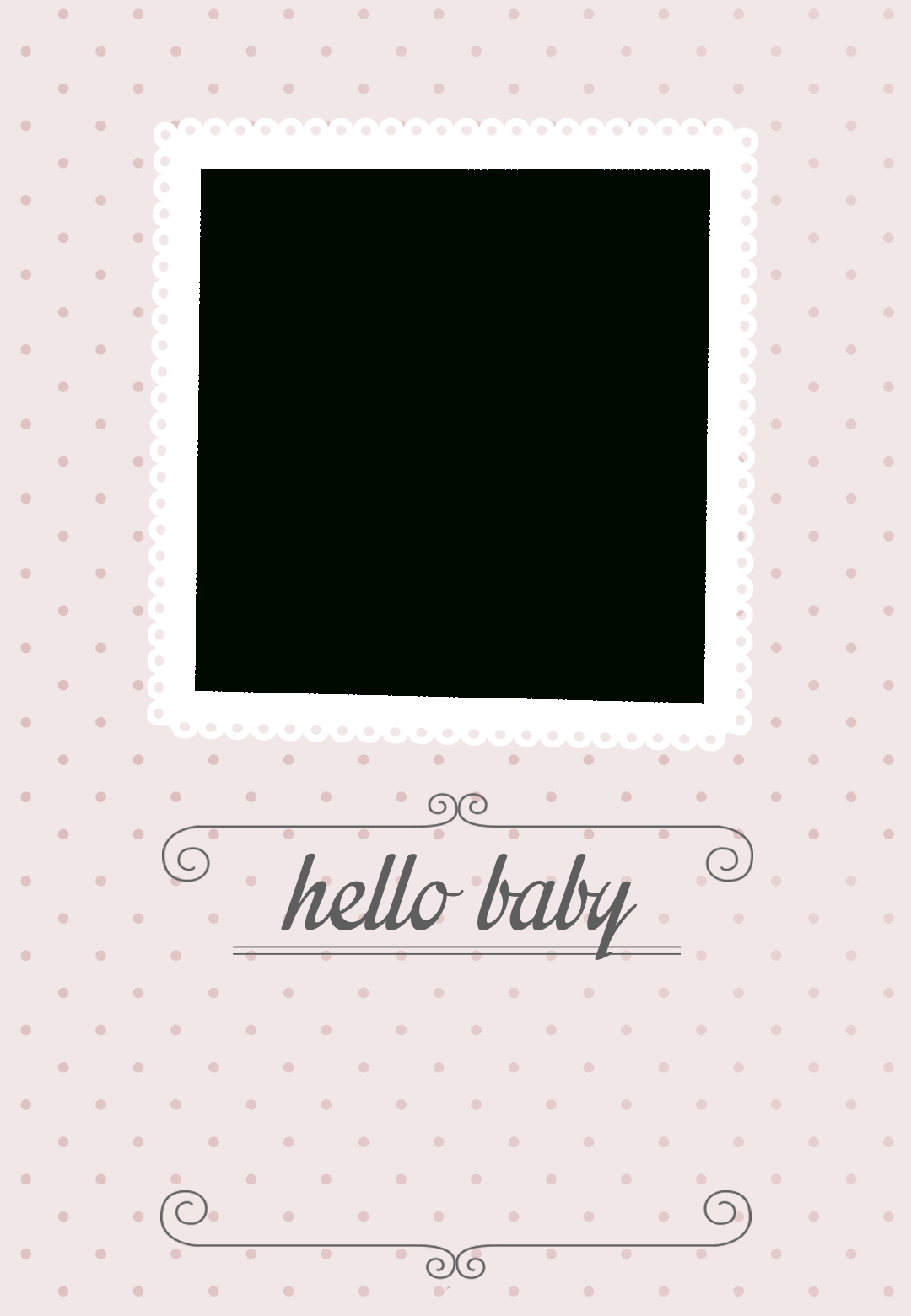 Classic Pink Dotted - Free Printable Birth Announcement Template - Free Birth Announcements Printable