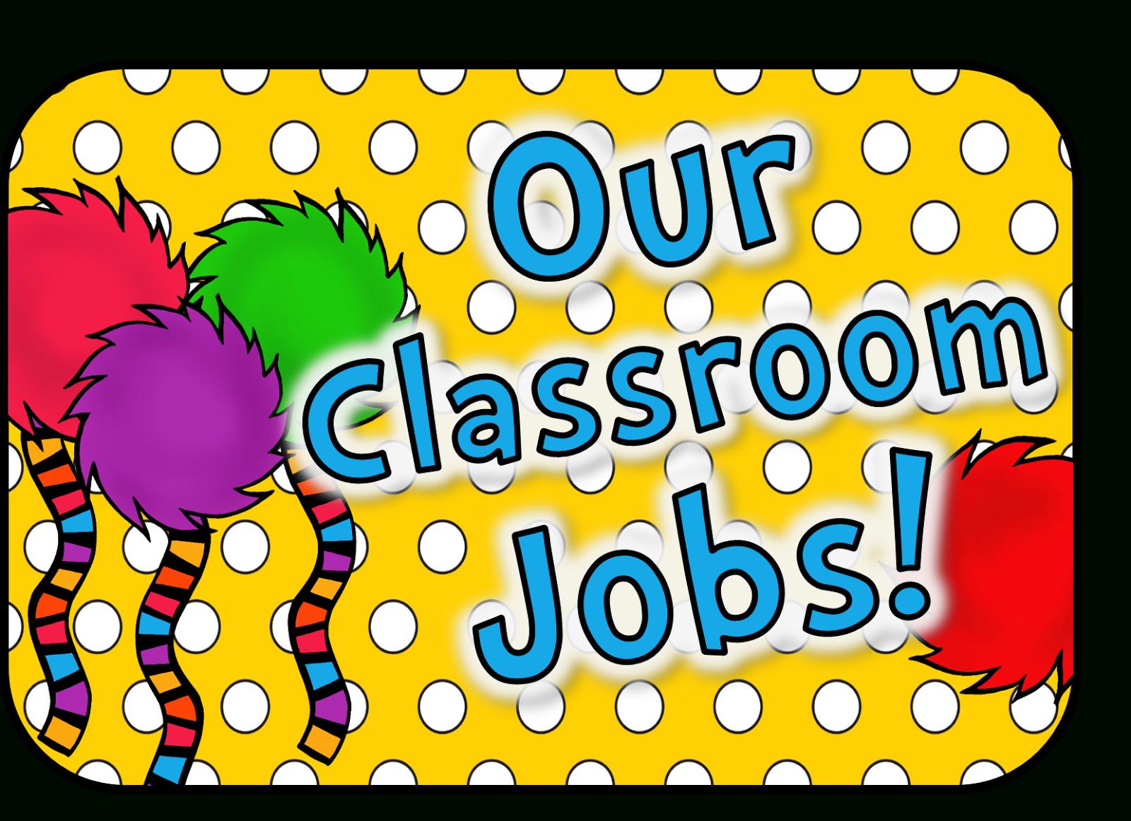 Classroom Job Clipart | Free Download Best Classroom Job Clipart On - Free Printable Classroom Helper Signs