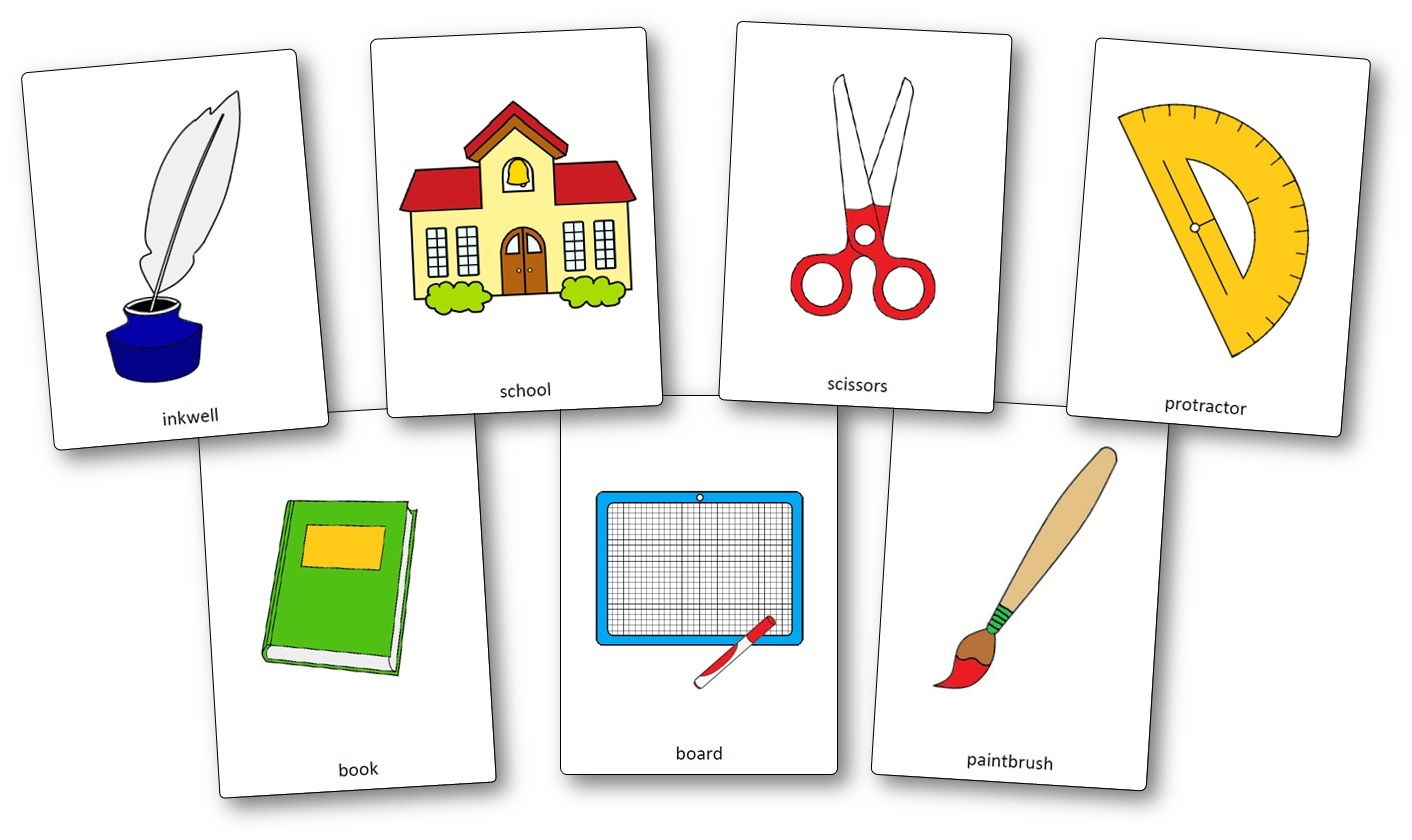 Classroom Objects Flashcards - Free Printable Flashcards - Speak And - Free Printable Flash Card Maker Online