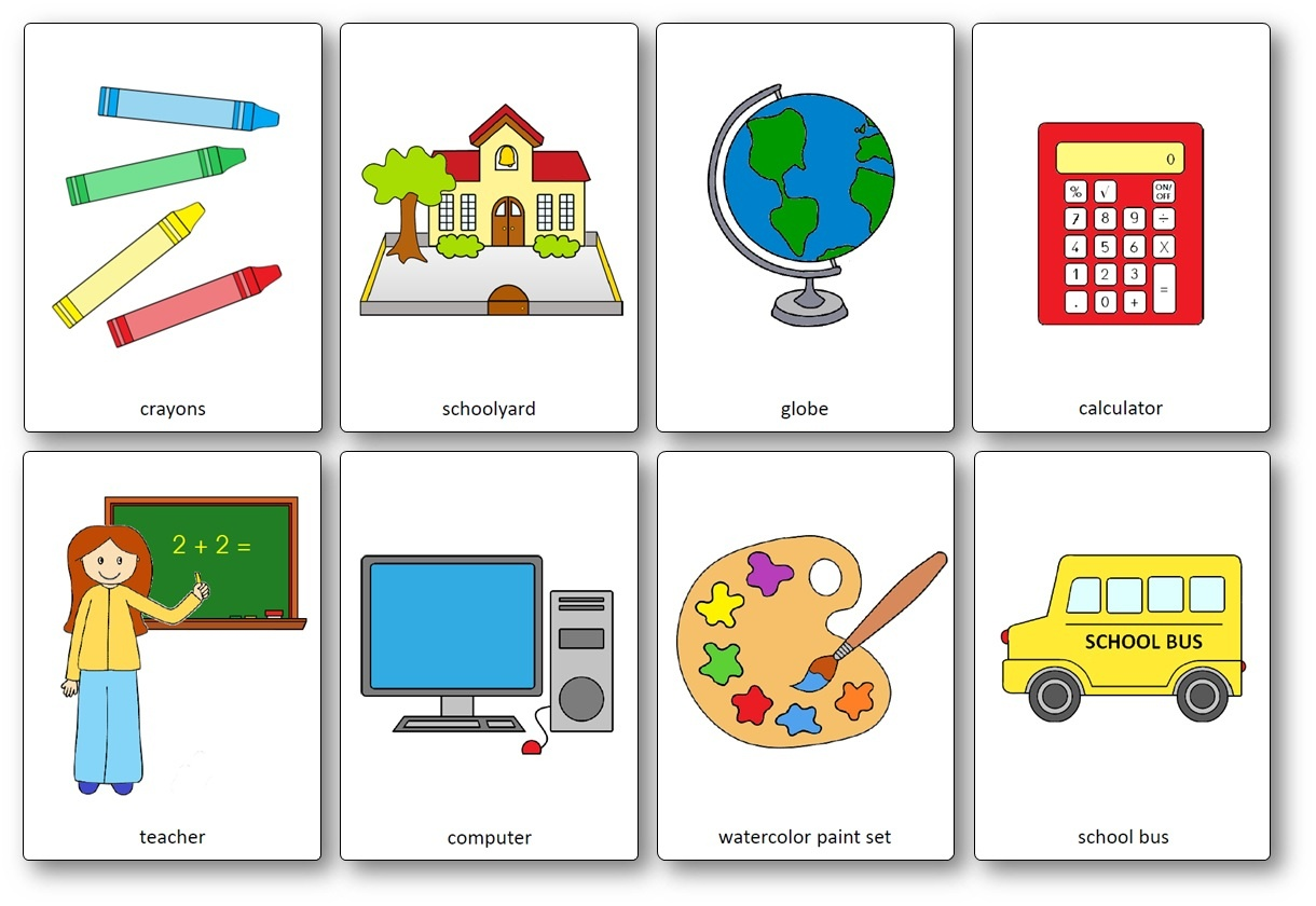 Classroom Objects Flashcards - Free Printable Flashcards - Speak And - Free Printable Flashcards For Toddlers