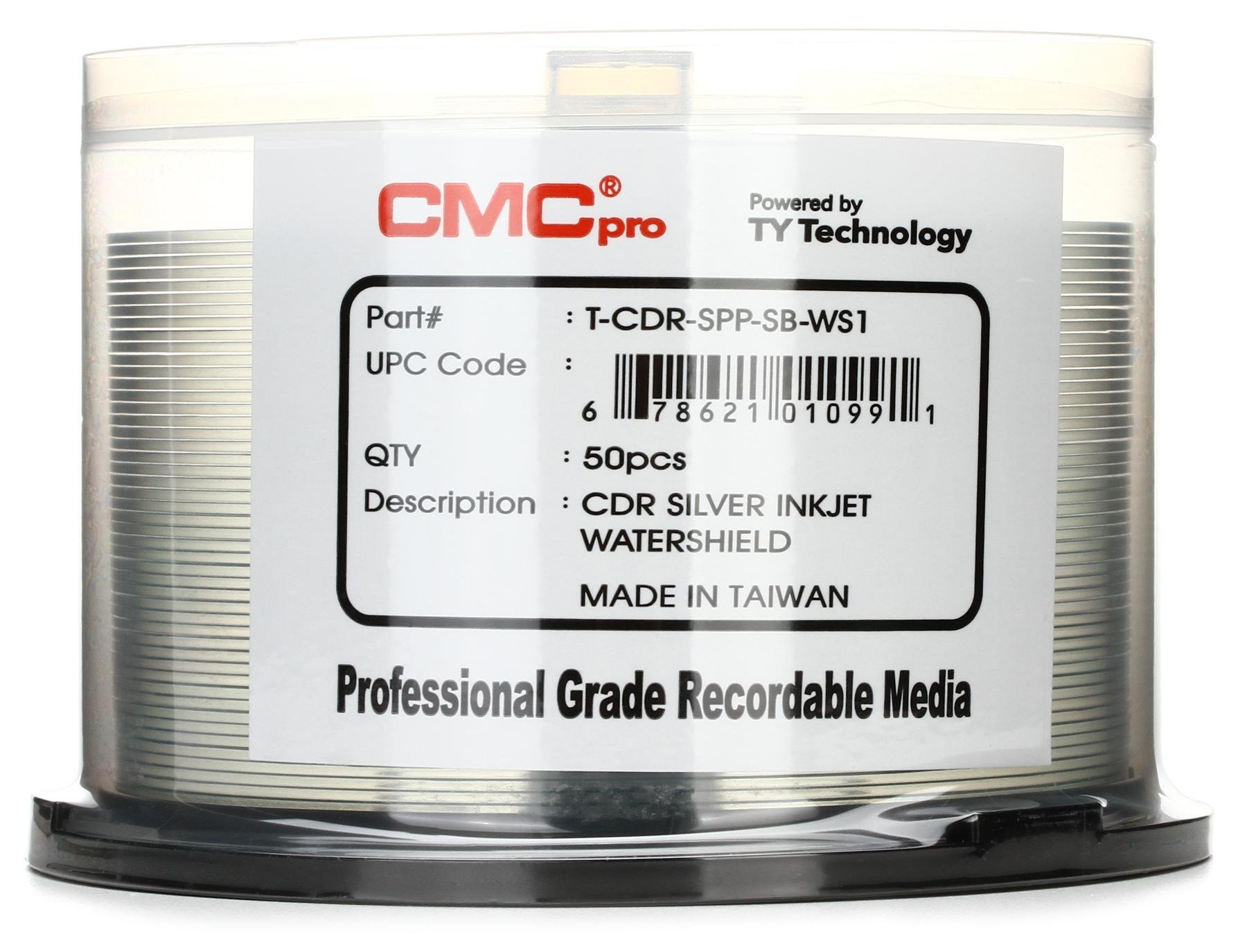 Cmc Pro Watershield Silver Water Resistant Inkjet Printable Cd-R - Free Printable Smile Your On Camera