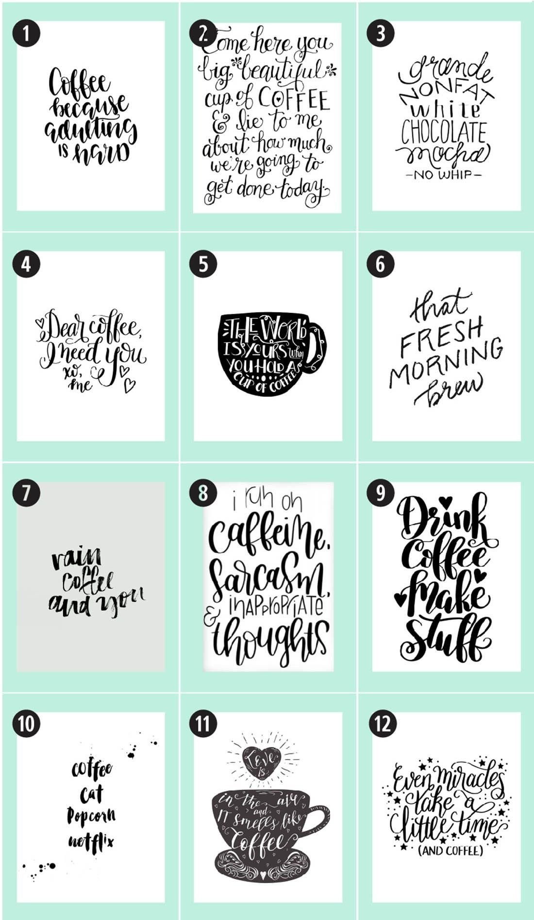 Coffee Free Printables: 180+ Ultimate Guide | Printable Decor, Free - Free Coffee Printable Art