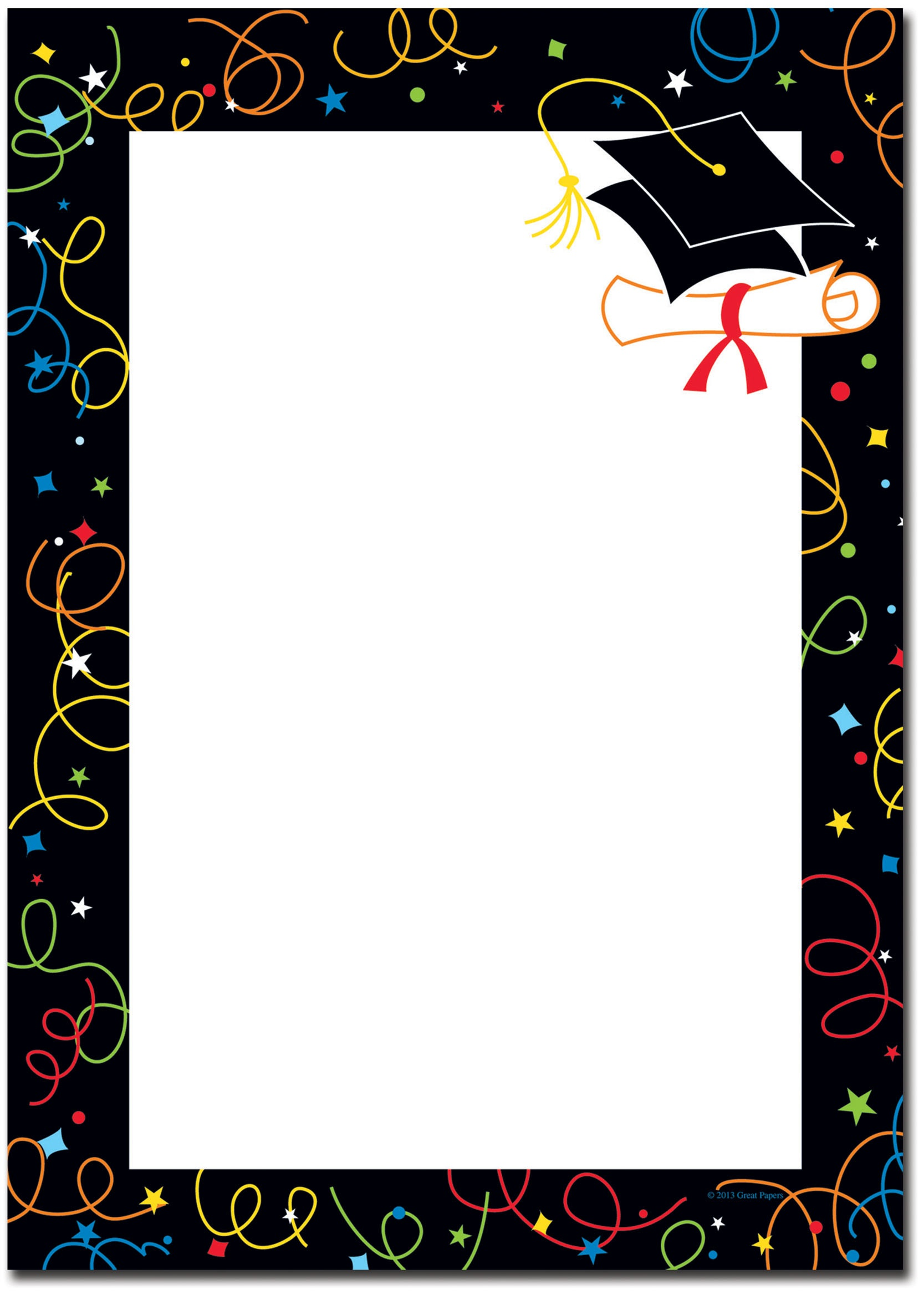 picture regarding Free Graduation Printable named Variety Of Free of charge Graduating Clipart Border. Down load Upon Ui