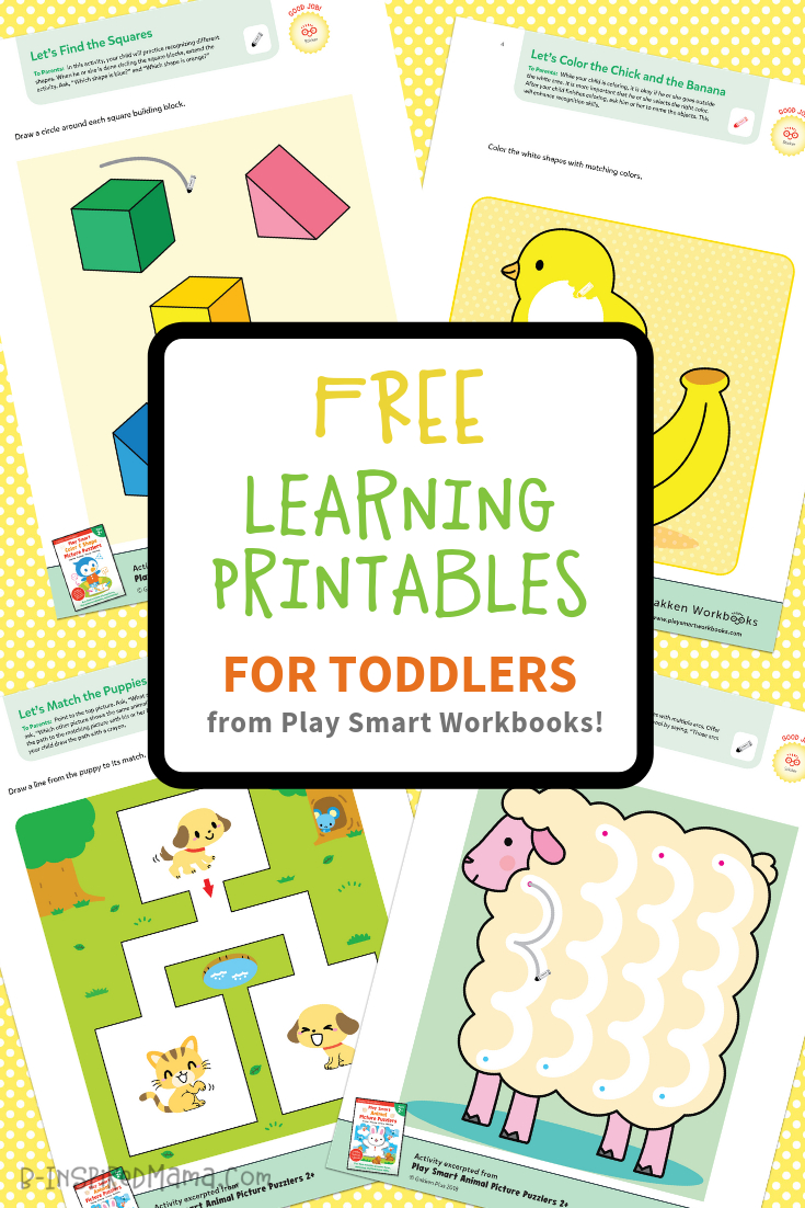 Colorful & Fun Free Printables For Toddlers To Learn From - Free Printable Games For Toddlers