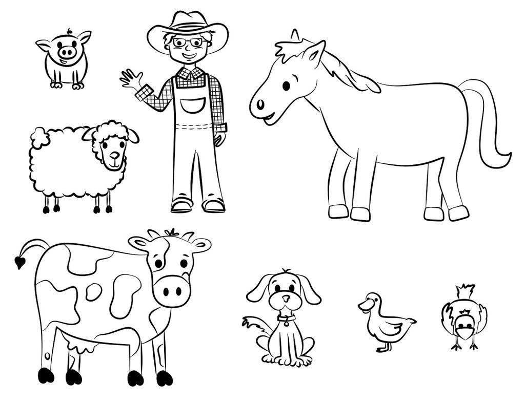 Coloring Book World ~ Coloring Book Worldwesomenimal For Kids Free - Free Printable Farm Animal Pictures
