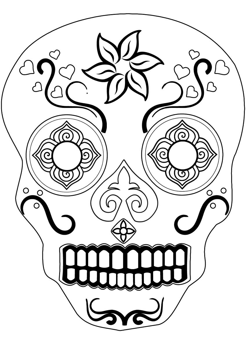 Coloring Book World ~ Coloringok World Sugar Skulls Pages - Free Printable Sugar Skull Coloring Pages