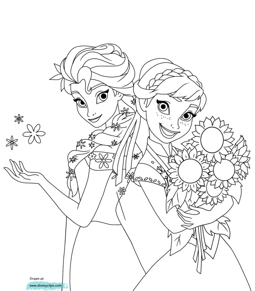 Coloring Book World ~ Frozen Coloring Pages Disney Free To Print - Free Printable Coloring Pages Disney Frozen