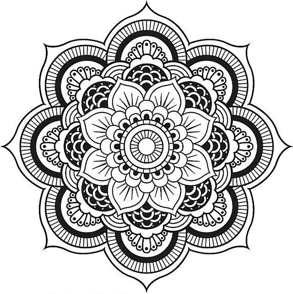 Coloring Book World: Mandala Coloring Pages For Adults. Free - Free Printable Mandala Coloring Pages