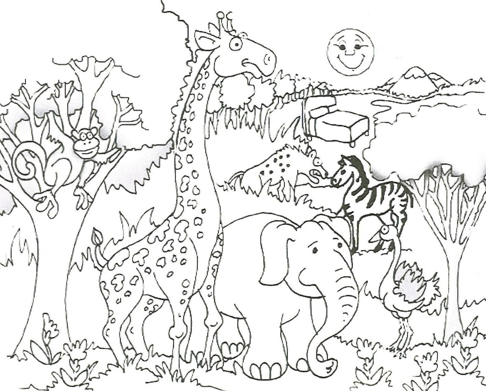 Coloring Book World ~ Top Free Printable Wild Animals Coloring Pages - Free Printable Wild Animal Coloring Pages