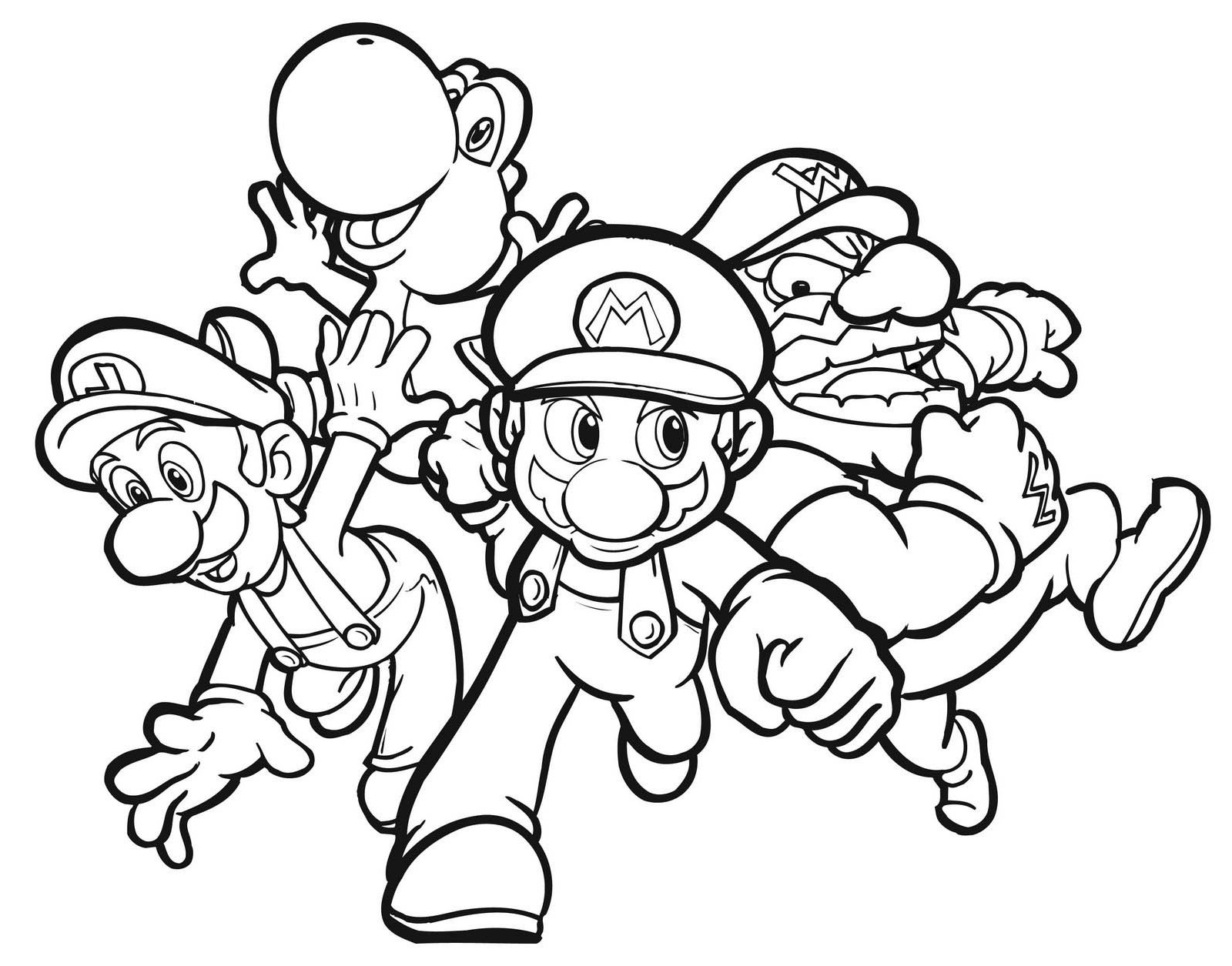 Coloring ~ Coloring Free Mario And Luigis Pdf Printable Pictures - Mario Coloring Pages Free Printable