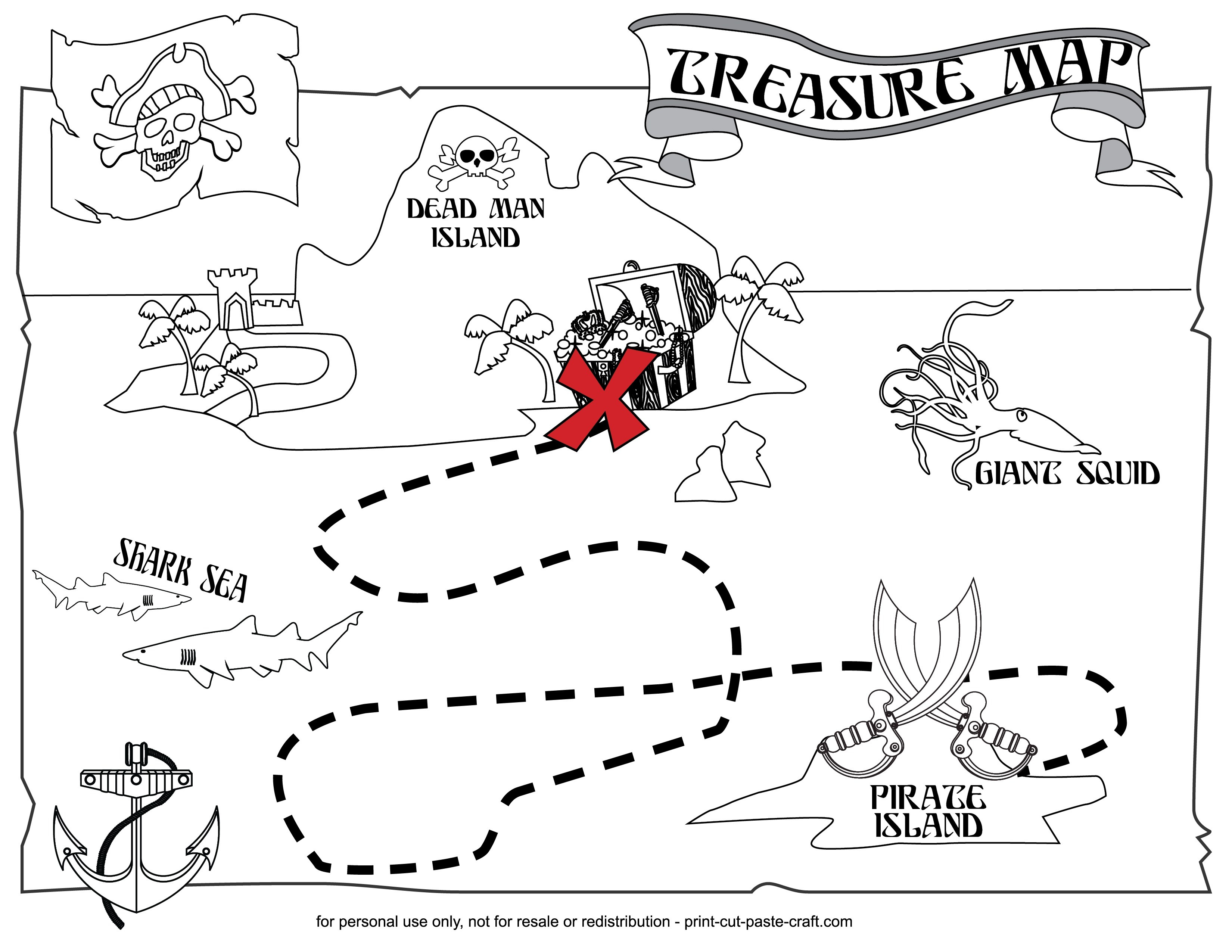 Coloring ~ Coloring Remarkable Printable Treasure Map Kids Activity - Free Printable Pirate Maps
