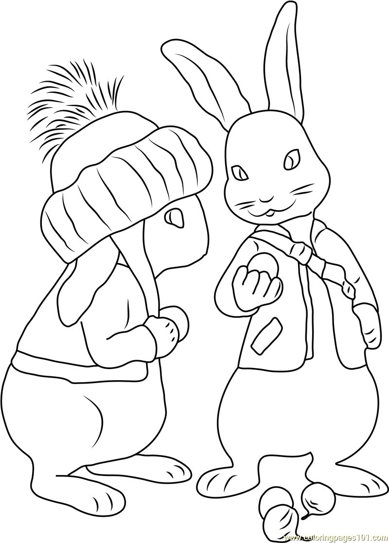 Coloring Ideas : Coloring Ideass Of Peter P Telematik Institut Org - Free Printable Peter Rabbit Coloring Pages